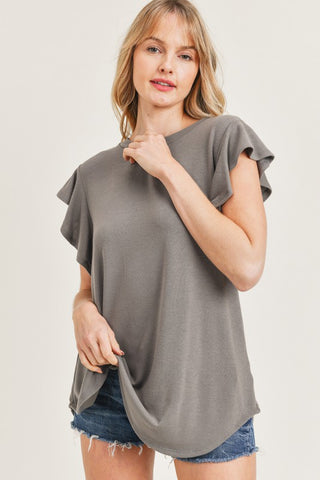 Sweet Sleeves Top in Mocha