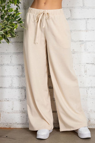 Natural Wide Leg Pants