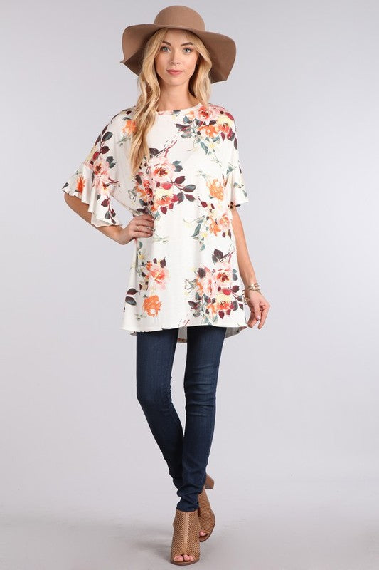 Jump into Spring Top in Ivory