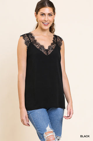 Stunning Lace Top in Black
