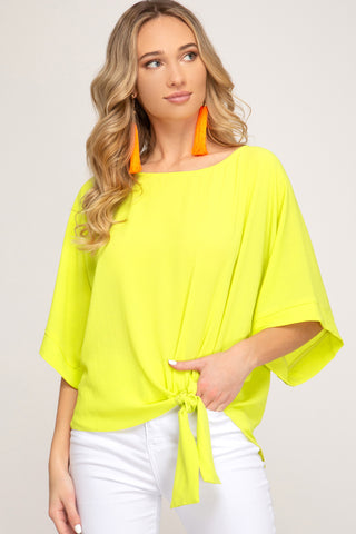 Bring On the Sunshine Top in Neon yellow