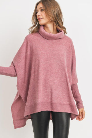 Cozy Times Tunic in Rose