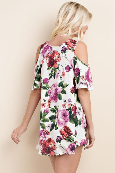 Beautiful Floral Cold Shoulder