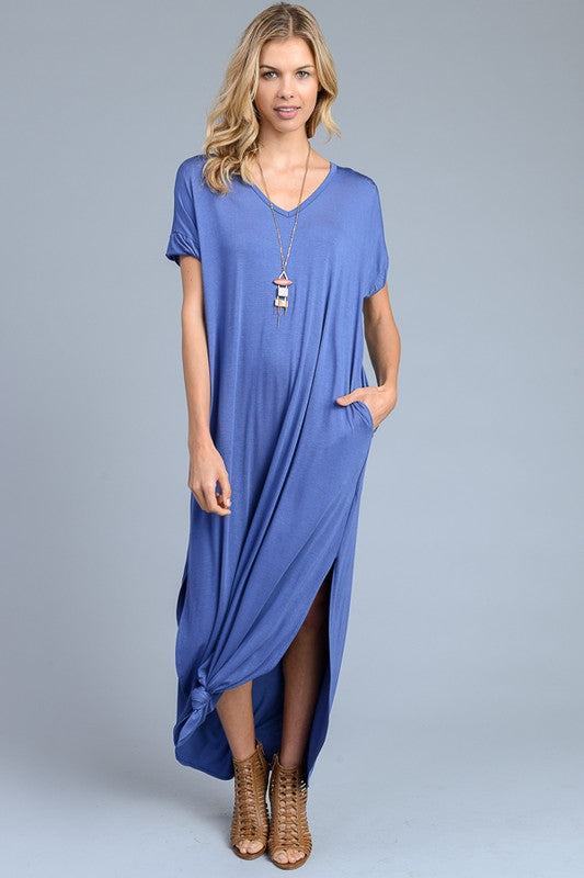 Weekend Getaway Maxi in Denim Blue