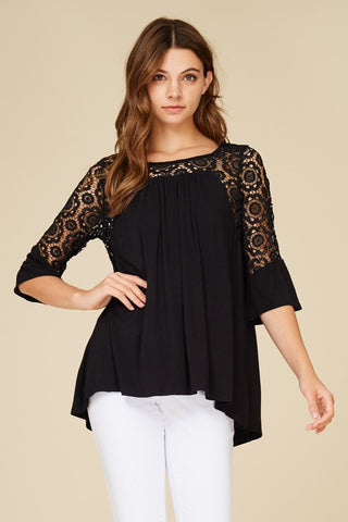 Look at Me Lace Top in Black