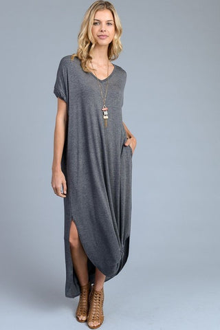 Weekend Getaway Maxi in Charcoal