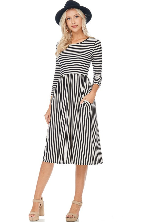 Stripes on Stripes Dress