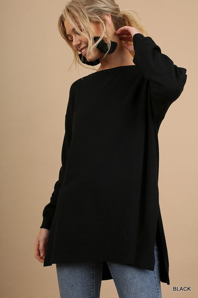 Cozy Days Sweater in Black