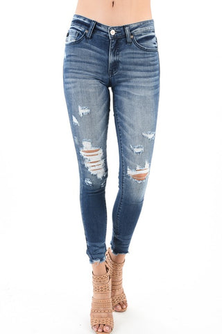 Raw Distressed Skinnies