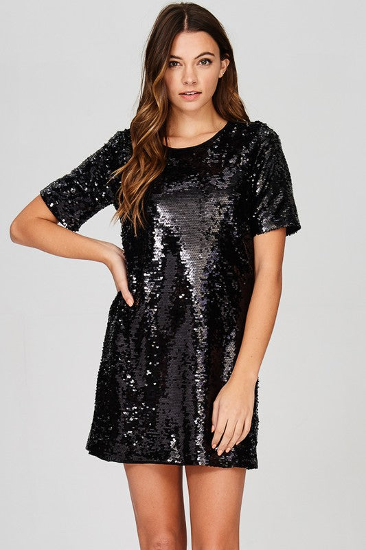 Time to Sparkle Dress in Black