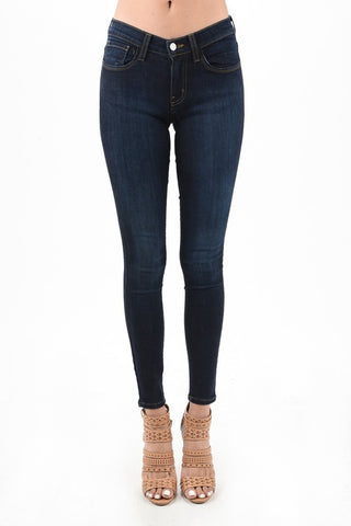 Classic Dark Wash Skinnies