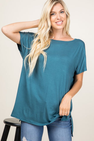Anything but Basic Top in Teal