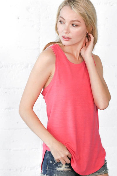 Cross Back Tank in HEATHER GREY