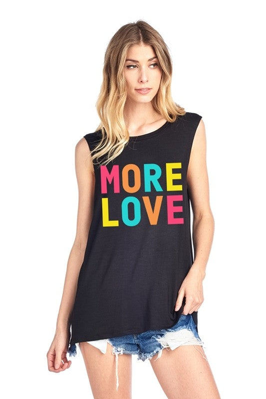 More Love Tank in Black