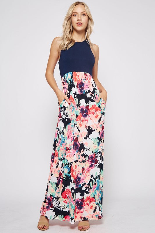 Can't Get Enough Maxi in Navy