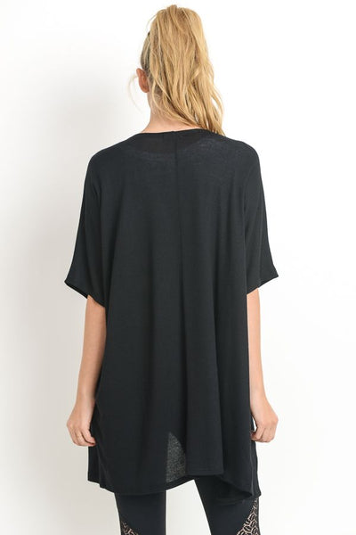 Cascading Cardigan in Black