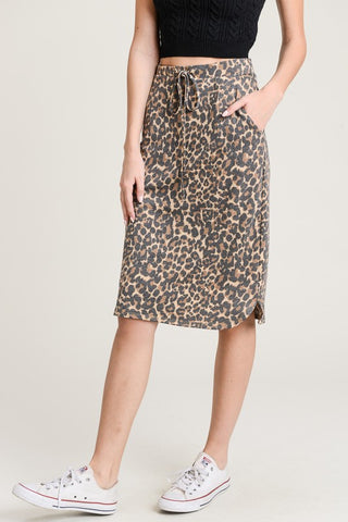 Leopard Knee Skirt