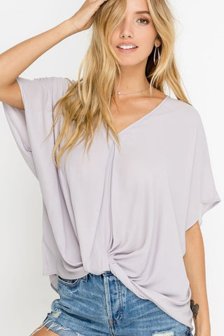 All I Ever Wanted Top in Silver Grey