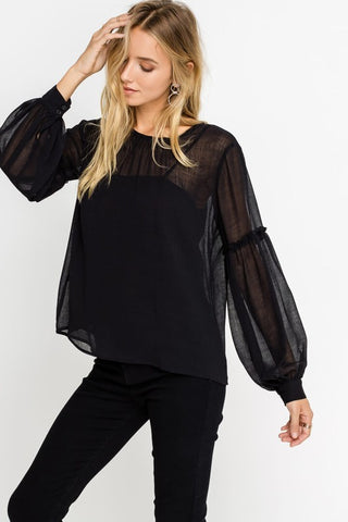 After Hours Blouse in Black