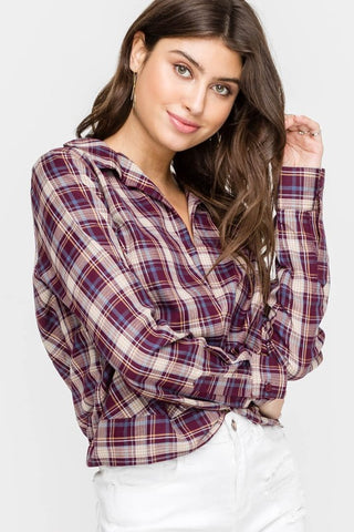 Your Not So Basic Plaid Top