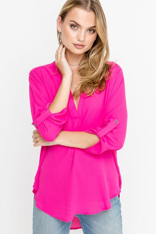 Your Go-To Top in Fuchsia Pink