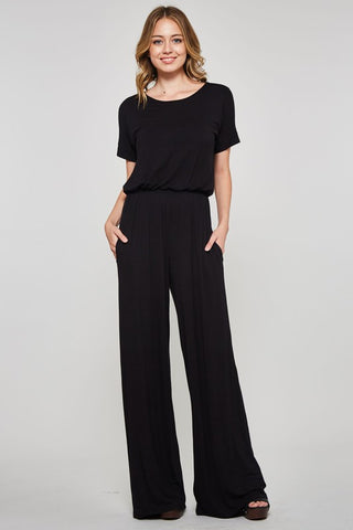 Positive Vibes Short Sleeve Jumpsuit