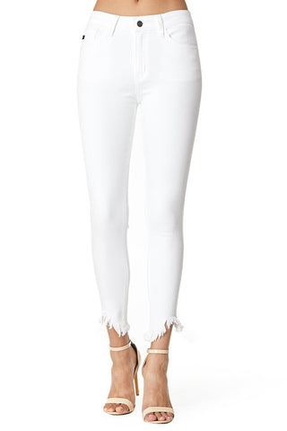 Sandy Beach White Skinny Jeans