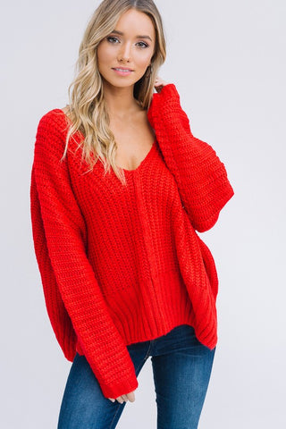 Bold Sweater in Red