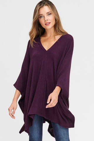 The Perfect Poncho in Eggplant