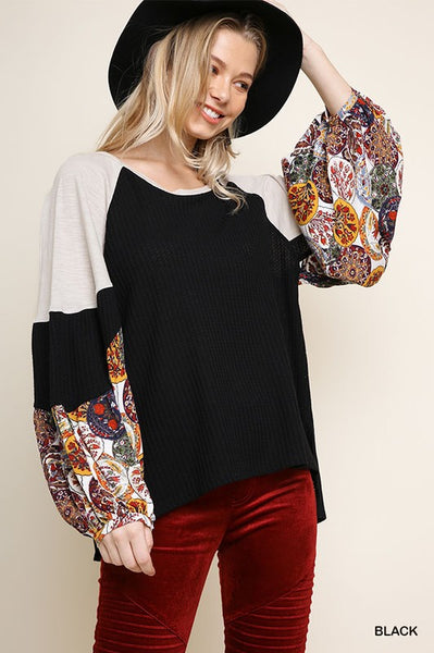 Go with the Flow Top in Black