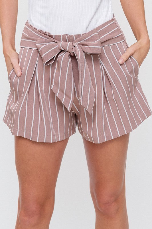 Sexy in Stripes Shorts in Mauve