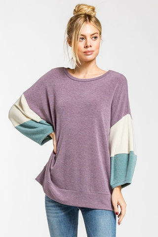Purple Block Top