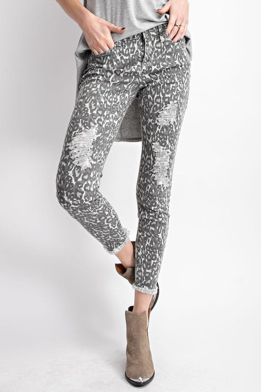 Walking on the Wild Side Pants in Grey
