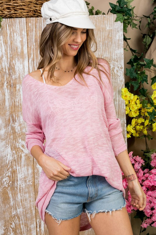 Weekend Lover Sweater in Pink
