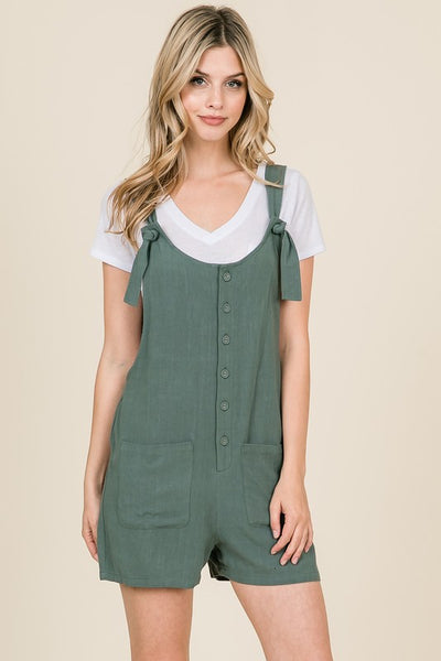 Around Town Romper in Sage