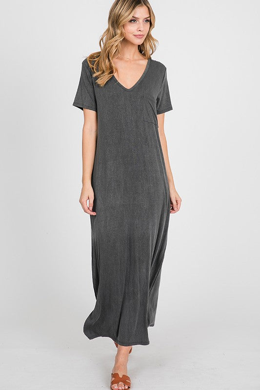 Travel Ready Maxi in Charcoal