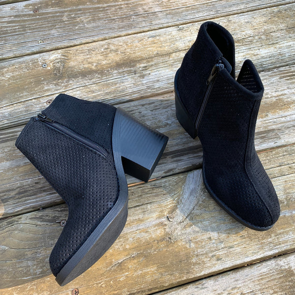 Mesh Booties in Black