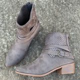 Depend On Me Bootie in Charcoal