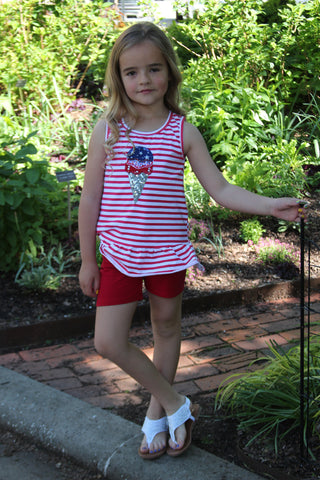 Patriotic Ice Cream Ruffle Tunic