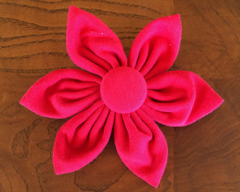 Red Flower Clip