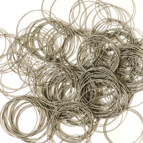 Guitar String Bracelets in Silver