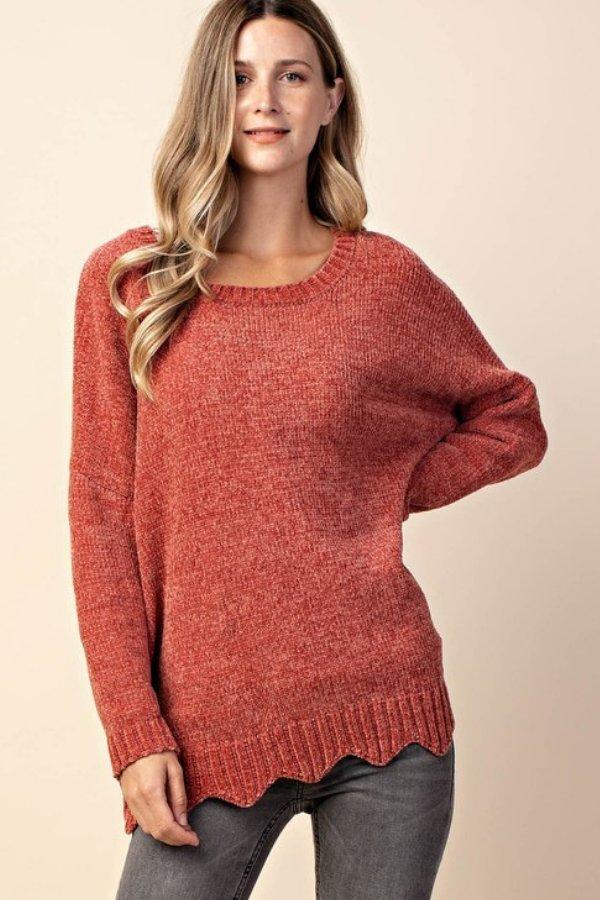 Swooning of Scallops Sweater