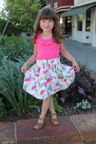 Pineapple Picnic Dress