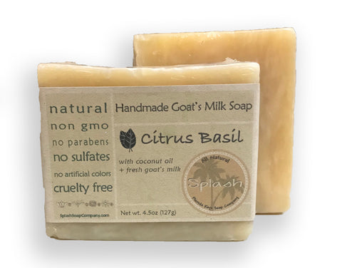 Citrus Basil Goat Milk Soap