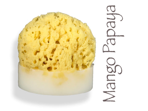 Mango Papaya Sea Sponge Soap
