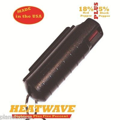 HEATWAVE Personal Molded Pepper Spray .5oz with clip Black  New-HW05M-BLK