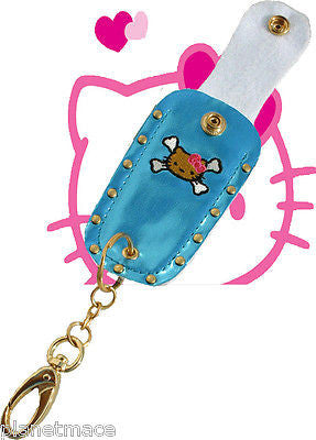 Hello Kitty Hand Embroidered BLUE Holster Key Chain .5 Pepper Spray NEW-HK05H-BL
