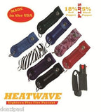 HEATWAVE Personal .5oz Pepper Spray with Key Chain Holster RED NEW-HW05H-RED