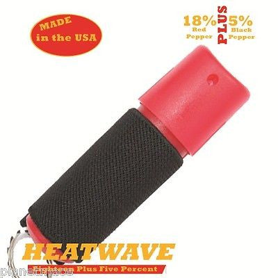 HEATWAVE Molded Pepper Spray .5oz Spin Top Jogger Strap RED New-HW05SJ-RED