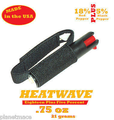 HEATWAVE Personal Pepper Spray .75 oz with Jogger Runner Strap New-HW07H-JOG